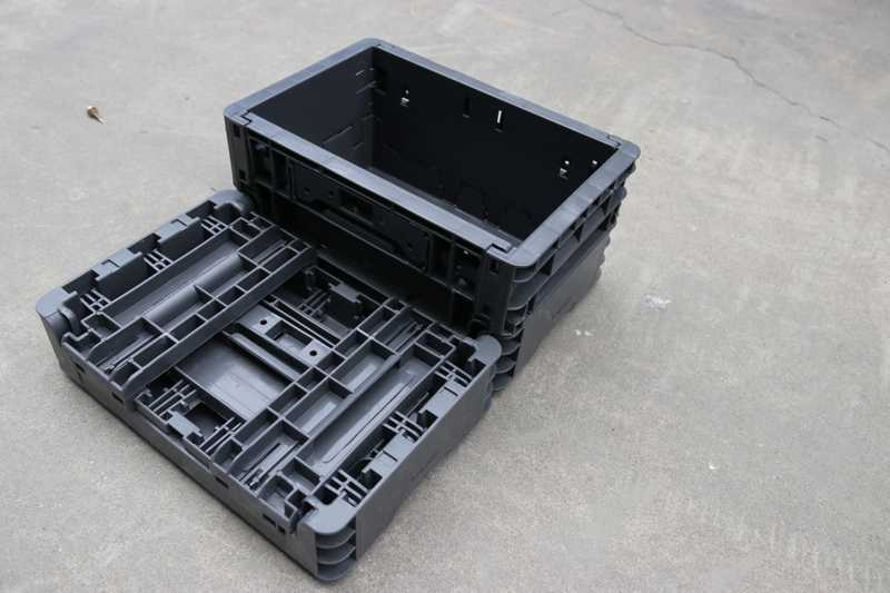 collapsible plastic box